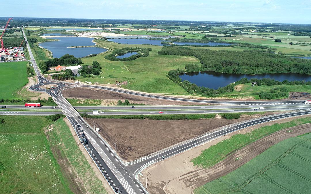 Nye motorvejsramper ved Aabenraa