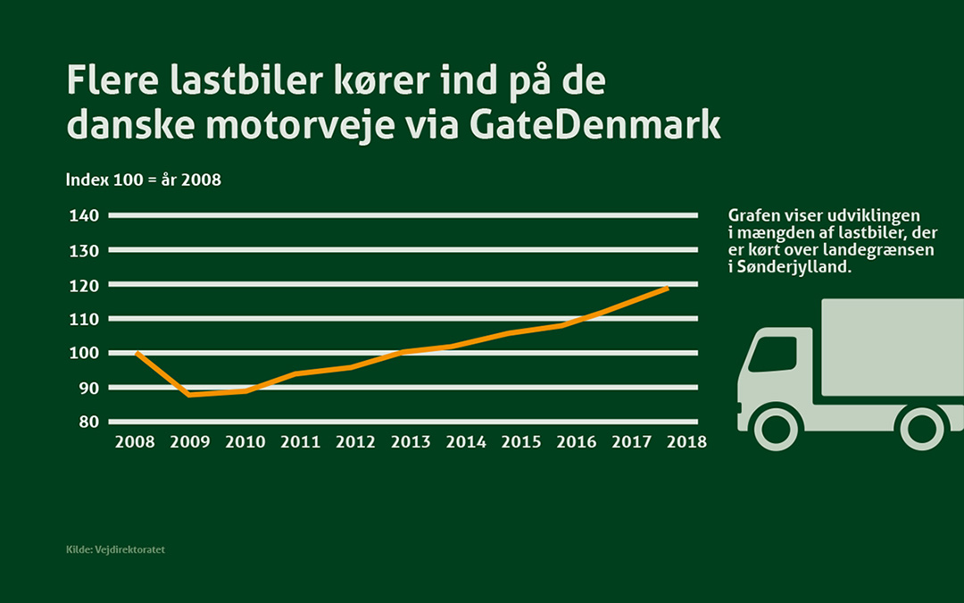 Flere lastbiler på vejene signalerer økonomisk fremgang