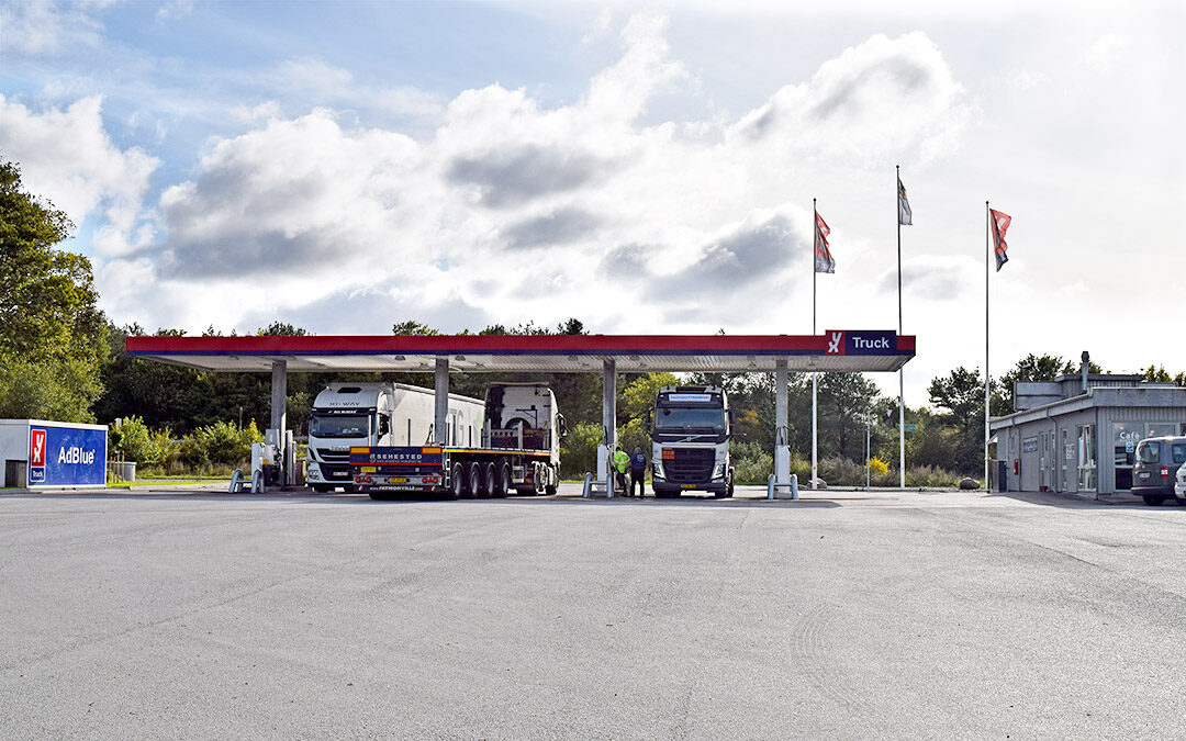 Newly Renovated Filling Station and Toilet and Shower Facilities at the Truck Centre Vognmandstanken